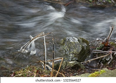 Spring thaw, river Doubrava, Czech republic