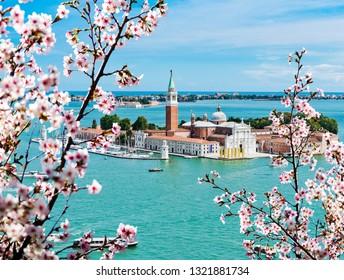 Spring in Venice. View of San Giorgio island, Italy