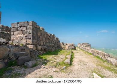 Spring view of Belvoir Fortress (Kokhav HaYarden National Park), a Crusader fortress in northern Israel, Jordan valley and Lower Galilee, Israel
