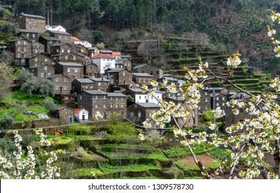 Spring view on Piodao village, Portugal