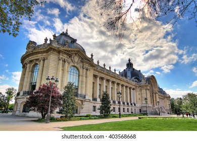 Spring view of the Petit Palais (small palace) in Paris, France