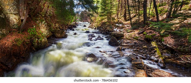 Spring Water Falls On RiverTrail