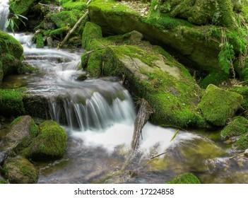 Spring Waterfall in high dynamic range