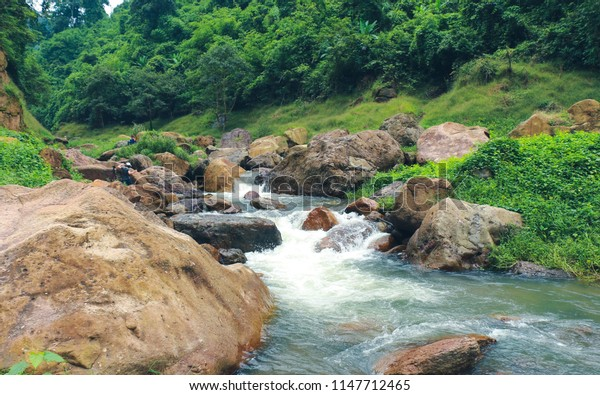 Spring Waterfall Thailand
