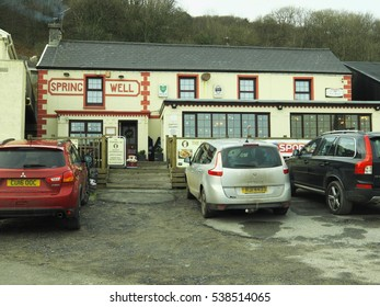 The Spring Well Inn at the coastal town of Pendine, Carmarthenshire, Wales, UK.