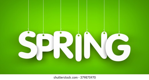 Spring - word hanging on the ropes