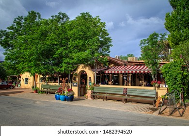 Springdale, Utah / USA - May 11, 2014: Image of iconic Oscar's Cafe near the west entrance to Zion National Park in Springdale.  Favorite dining spot for tourists, hikers and locals for over 20 years.