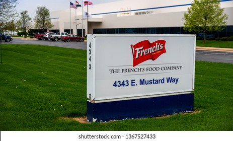 Springfield, MO—April 11, 2019; Signage in front of factory marks home of McCormicks Spices company French's brand which makes mustard, bullseye barbecue sauce and other condiments.