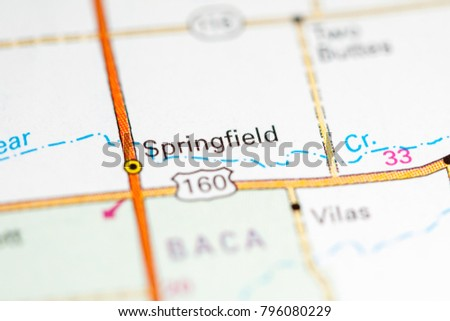 Springfield Colorado Map.Springfield Colorado Usa On Map Stock Photo Edit Now 796080229