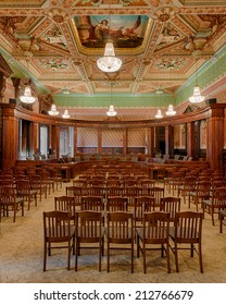 SPRINGFIELD, ILLINOIS - AUGUST 11: Old Supreme Court chamber in the Illinois State Capitol building on August 11, 2014 in Springfield, Illinois