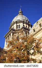 Springfield, Illinois - fall by State Capitol