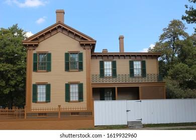 springfield, illinois, usa, Sept 24, 2017, abraham lincoln house