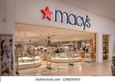 Springfield, Missouri - March 22, 2019: Macy's is an American department store chain.  Macy's has conducted the annual Macy's Thanksgiving Day Parade in New York City since 1924. Editorial.