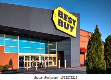 Springfield, Missouri - November 1, 2019: Best Buy Co., Inc. is an American multinational consumer electronics retailer headquartered in Richfield, Minnesota.