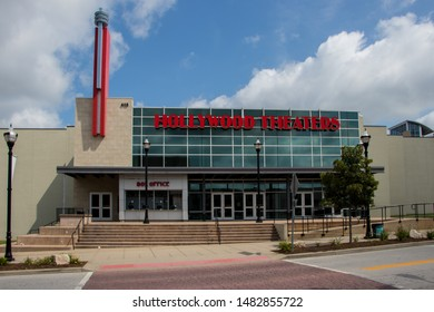 Springfield, Missouri / United States 8/10/19 Hollywood movie theater in downtown.