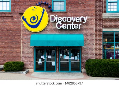 Springfield, Missouri / United States 8/10/19 Discovery center science center in downtown.