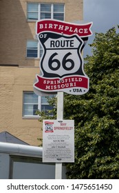 Springfield, Missouri / USA 8-10-2019 Birthplace of Route 66 festival at park central square.