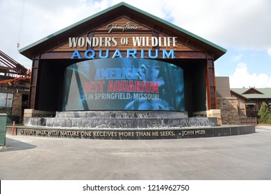 Springfield, MO/USA - Circa October 2018:  Bass Pro's Flagship store in Springfield, MO.  This is a local landmark, tourist attraction and part of the Bass Pro history.