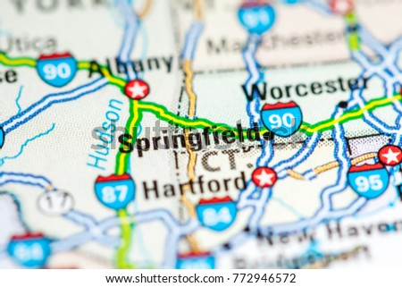 Springfield Usa Map.Springfield Usa On Map Stock Photo Edit Now 772946572 Shutterstock