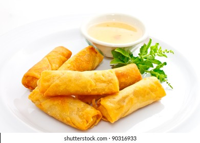 springrolls with sweet plum sauce