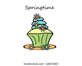 Springtime Cupcake