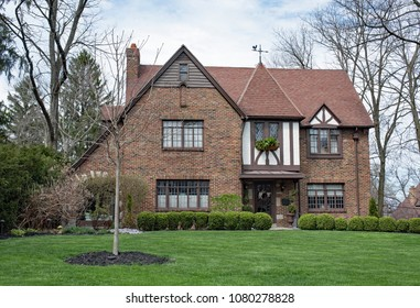 Springtime English Tudor Home