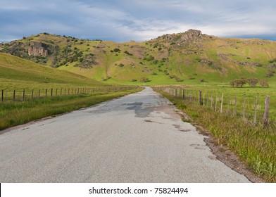 Springtime in the hills near Hollister, California