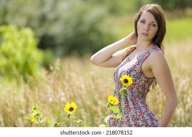 Opinion flowers tight brunette teen posing something