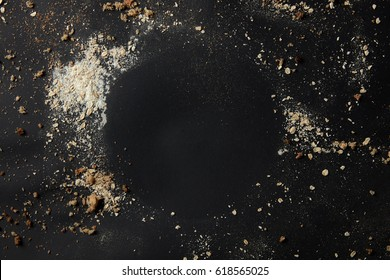 Sprinkled flour over background