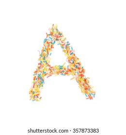 Sprinkles Alphabet - A