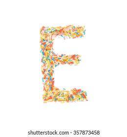 Sprinkles Alphabet - E