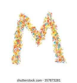 Sprinkles Alphabet - M