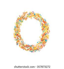 Sprinkles Alphabet - O