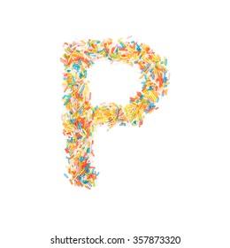 Sprinkles Alphabet - P