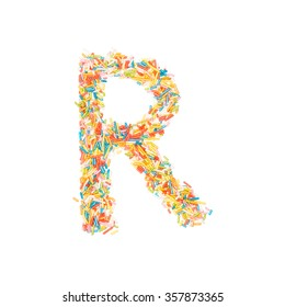 Sprinkles Alphabet - R