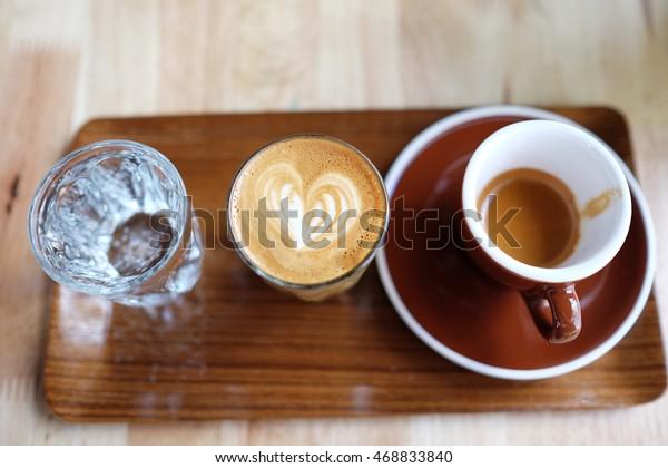 Sprite Espresso Piccolo Latte Spark Water Stock Photo ...