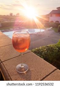 spritz in the sunset