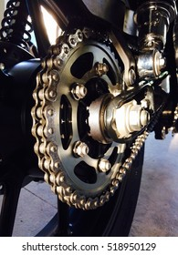 Sprocket kits(gear and chain master) part for custom motorcycle.