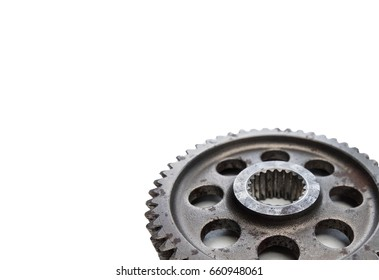 sprockets for motorcycles on white background