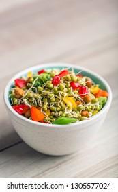 Sprouted Lentil Salad