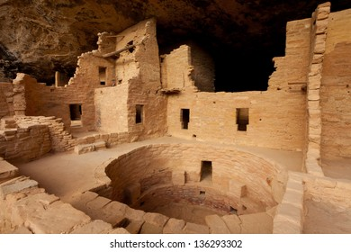 Spruce Tree House cliff dwelling in Mesa Verde National Park