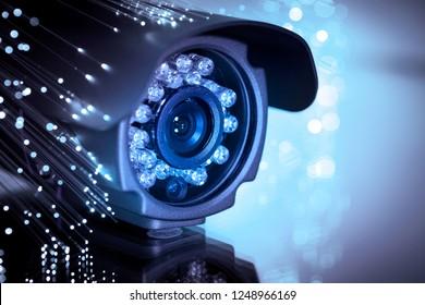 spy cam with optic fiber