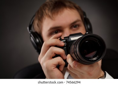 Spy with camera.