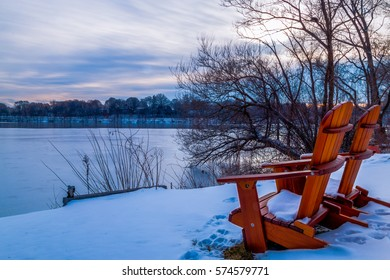 Spy pond arlington massachusetts with chairs relaxation