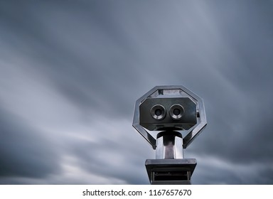 Spyglass against sky motion