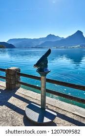 Spyglass near the lake Wolfgangsee in Austria