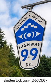 SQUAMISH, CANADA - AUGUST 20: A sign posted along the Sea-To-Sky highway, or highway 99, on August 20, 2013 near Squamish, British Columbia.