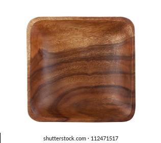 Square acacia wood bowl
