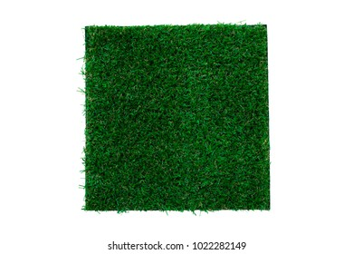The square of artificial grass isolated background