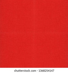 Square background of  red fabric